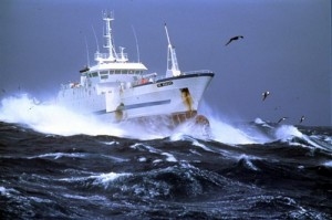 A French vessel fishing for toothfish at Kerguelen Island