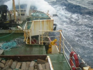 Wild weather while fishing for toothfish at Prince Edward & Marion Islands