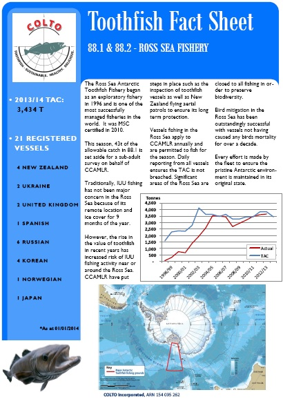 COLTO Toothfish Ross Sea Fact Sheet