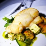 Toothfish on pumpkin & potato gnocchi with feta & salsa verde