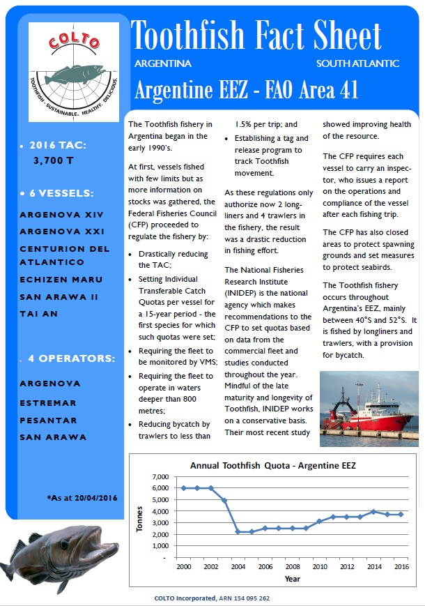 Toothfish Fact Sheet Argentina
