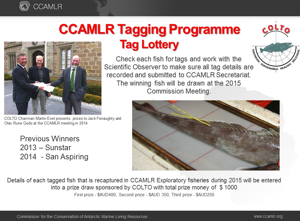 CCAMLR toothfish tag lottery COLTO