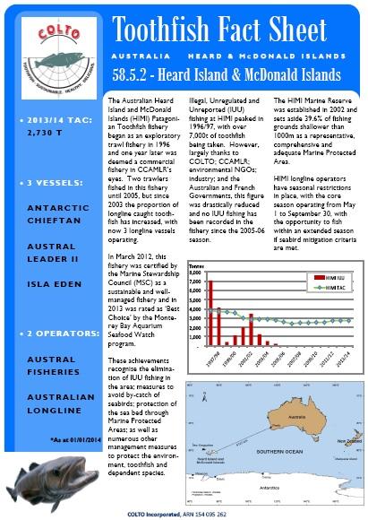 Toothfish HIMI Fact Sheet