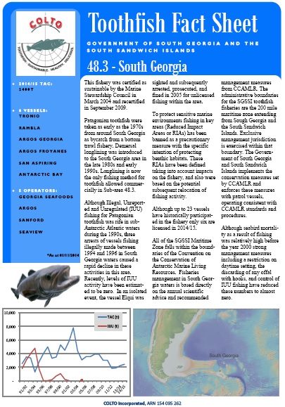 South Georgia Toothfish fact sheet