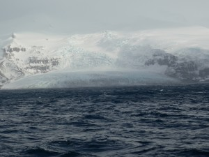 Glacier at Heard Island where toothfish is caught