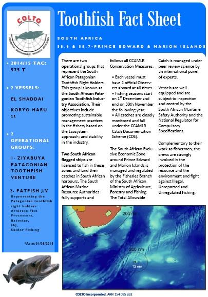 PEMI Toothfish Fishery 2015