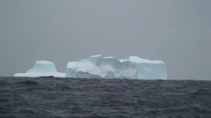 An iceberg spotted while fishing for toothfish at Heard Island