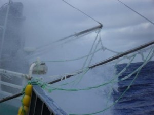 Wild weather at Heard Island while fishing for toothfish