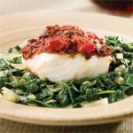 Tomato & Olive-crusted Chilean Sea Bass