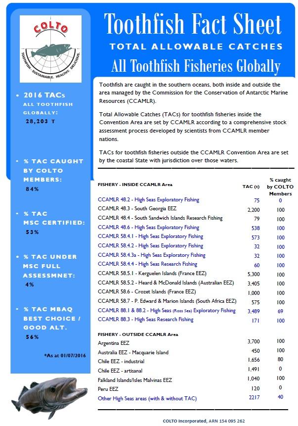 Toothfish Fact Sheet 2016